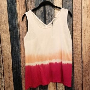 Red Haute Ombre Pink Tank